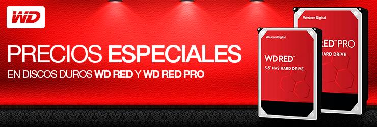 Precios especiales en discos duros WD Red y WD Red Pro