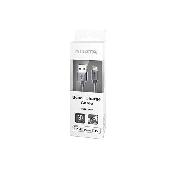 CABLE LIGHTNING A USB(A) ADATA ALUMINIO TITANIO