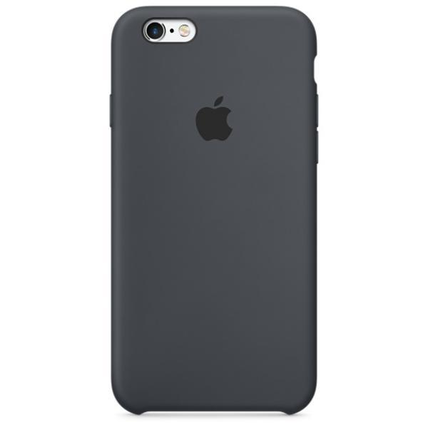 Apple Iphone 6S plus silicona gris carbon – Funda