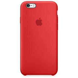 Apple Iphone 6S plus silicona rojo – Funda