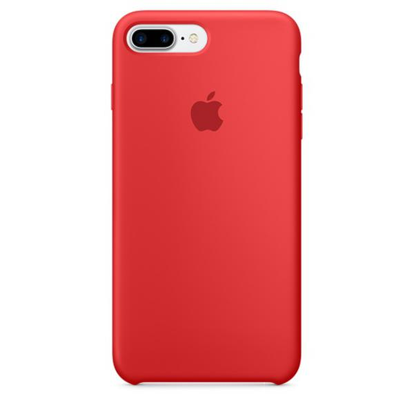 Apple Iphone 7 plus silicona rojo – Funda