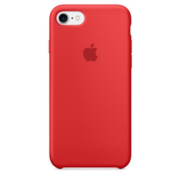Apple Iphone 7 silicona rojo – Funda