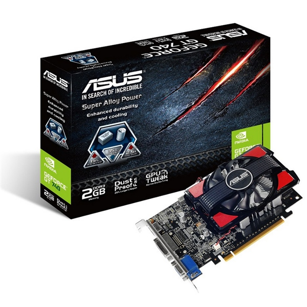 Asus Nvidia GeForce GT740 2GB DDR3 – Gráfica
