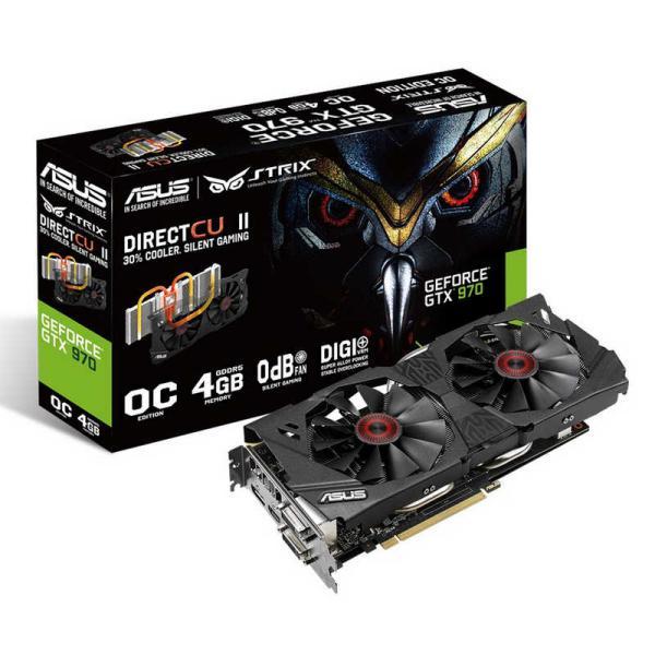 Asus Nvidia GeForce Strix GTX970 DC2 OC 4GB DDR5 – Gráfica