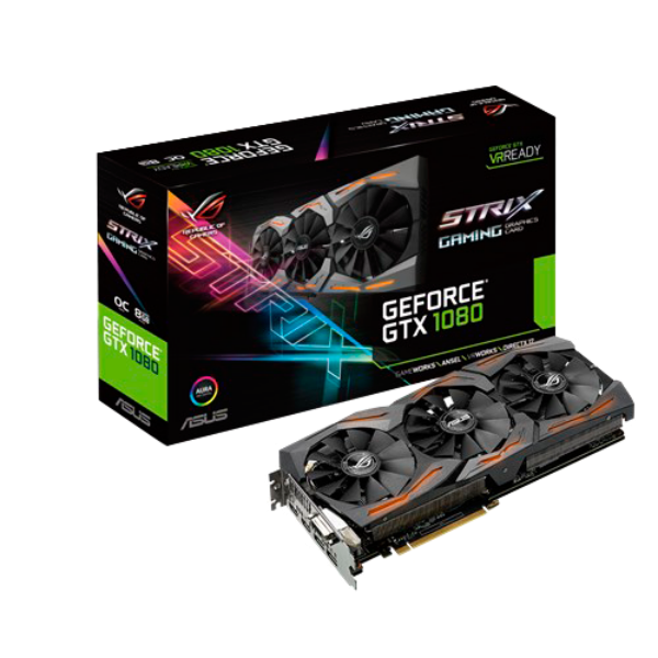 Asus Nvidia GeForce GTX1080 Strix Gaming 8GB – Gráfica