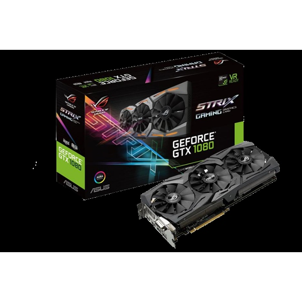 Asus Nvidia GeForce GTX1080 Strix A8G 8GB – Gráfica