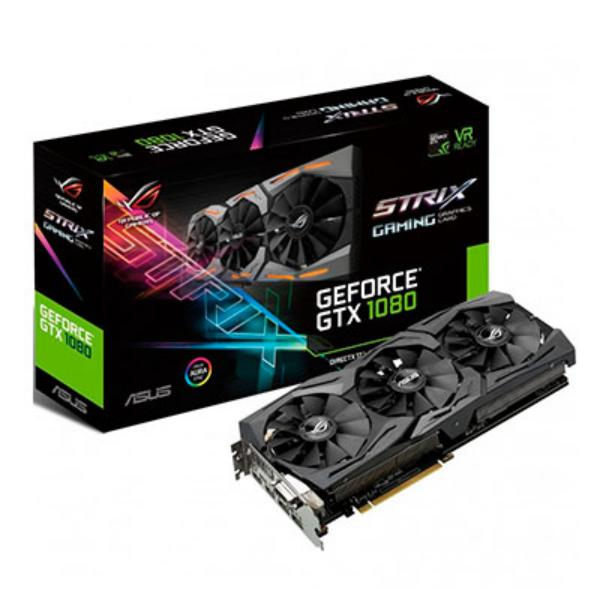 ASUS Nvidia GeForce GTX1080 Strix A8G 8GB 11Gbps – Gráfica
