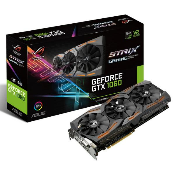 Asus Nvidia GeForce GTX1060 Strix OC 6GB – Gráfica