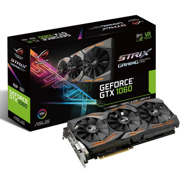 Asus Nvidia GeForce GTX1060 Strix 6GB – Gráfica
