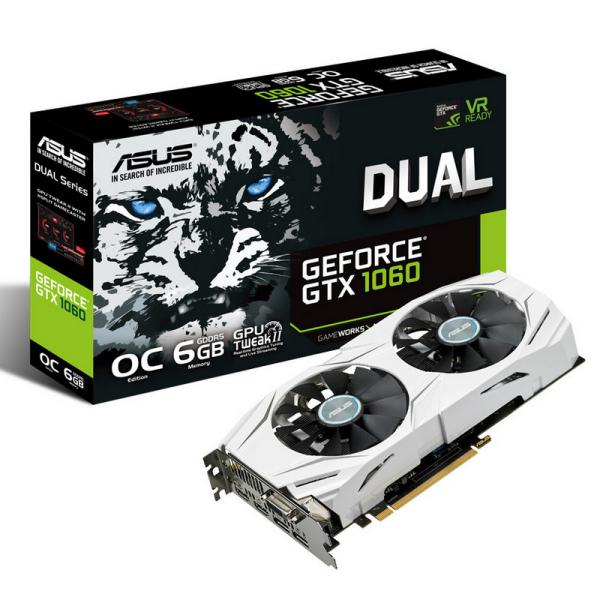 Asus Nvidia GeForce Dual GTX 1060 OC 3GB – Gráfica