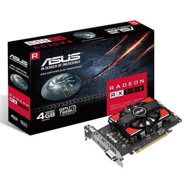 Asus AMD Radeon RX 550 4GB – Gráfica