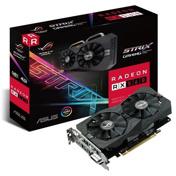 Asus AMD Radeon Strix RX560 4GB Gaming - Gráfica