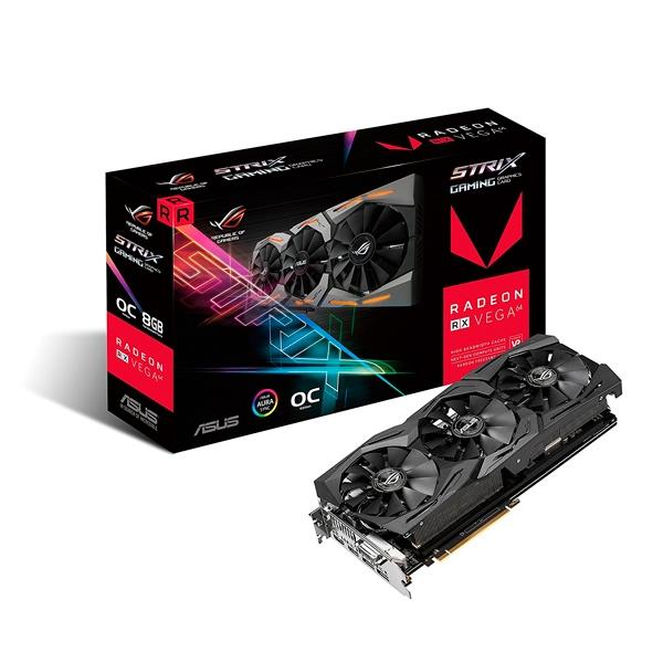 Asus Rog Strix RX Vega64 OC 8GB - Gráfica