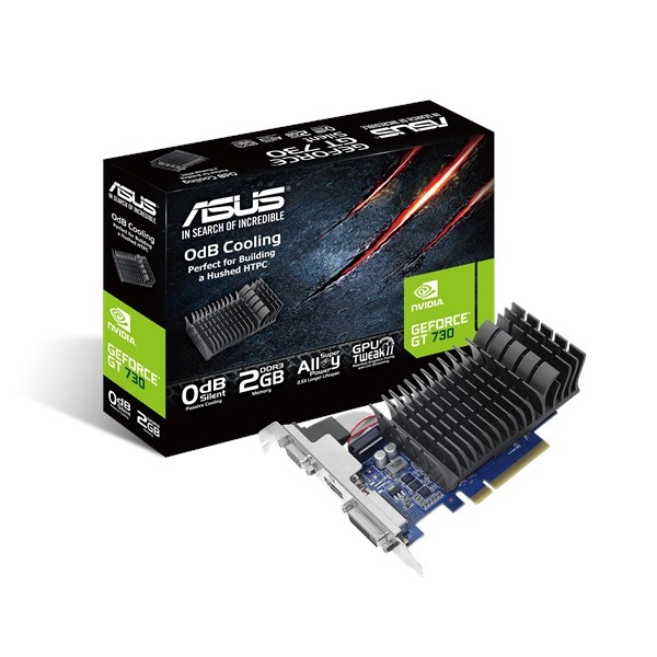 Asus Nvidia GeForce GT 730 Silent 2GB Low Profile – Gráfica