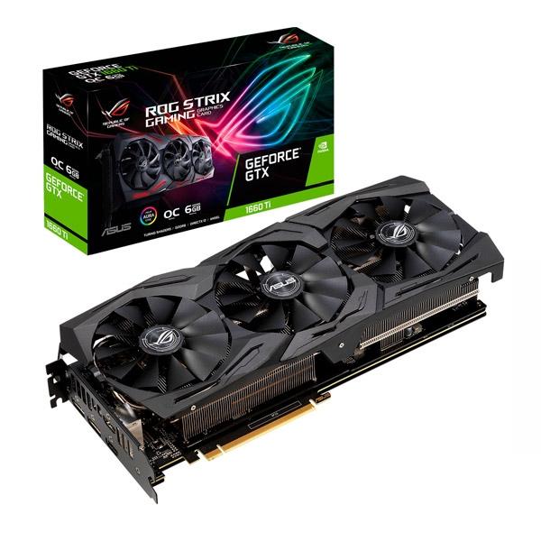 Asus Nvidia GeForce GTX 1660ti Strix OC Gaming 6GB - Gráfica