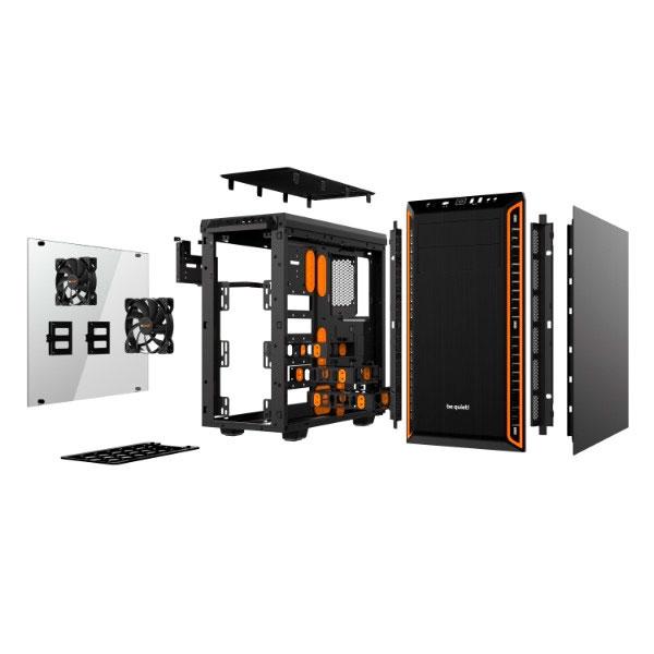 Be Quiet! Pure Base 600 window black / orange – Caja