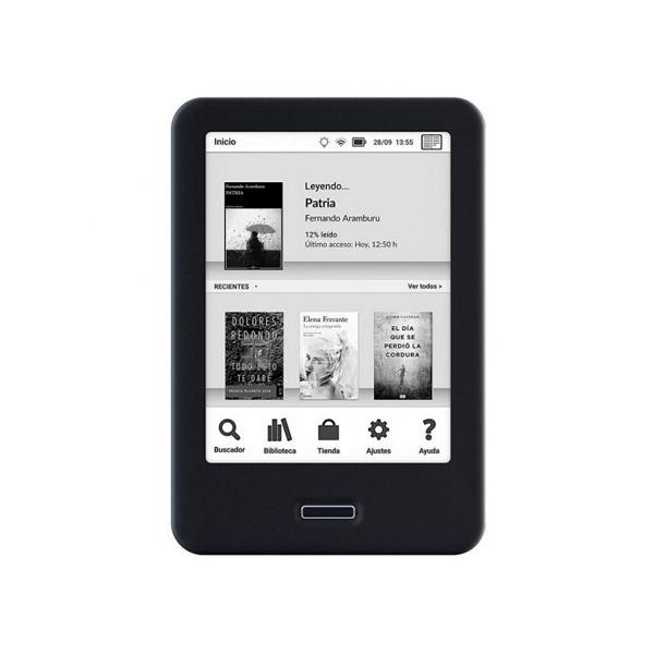 "BQ Cervantes 4 6"" 8GB Luz Wifi Negro - Libro Electrónico"