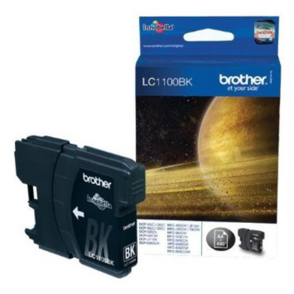 Brother LC1100BK negro 450 pag – Tinta