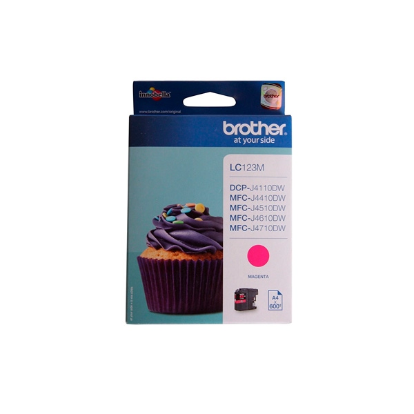 Brother LC123M Magenta 600 pag – Tinta