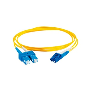 C2G LC-SC 9/125 OS1 Dúplex Singlemode PVC fibra opt. – Cable