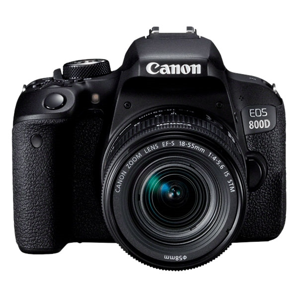 Canon EOS 800D EF-S  IS STM 18 – 55 mm – Cámara Réflex