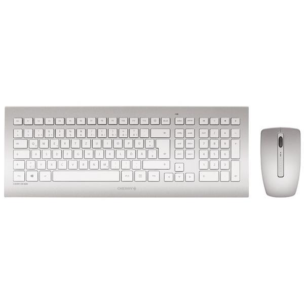 Cherry DW 8000 plateado – Kit de teclado y ratón