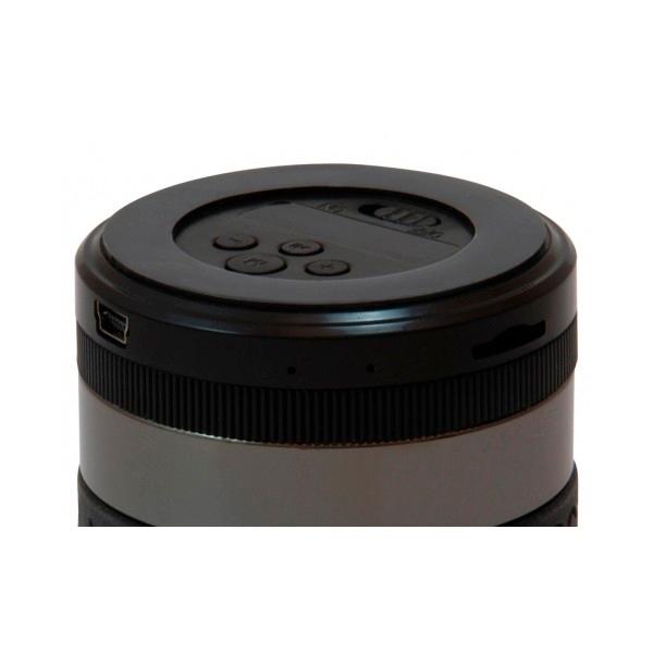 Conceptronic negro gris BT micro SD y radio - altavoz