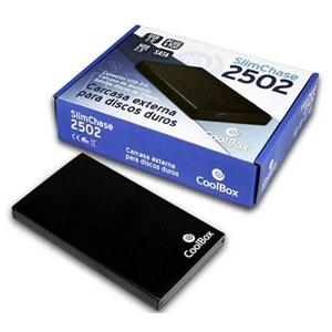 Coolbox 2502 caja 2.5″ USB2.0 negra – Caja HDD