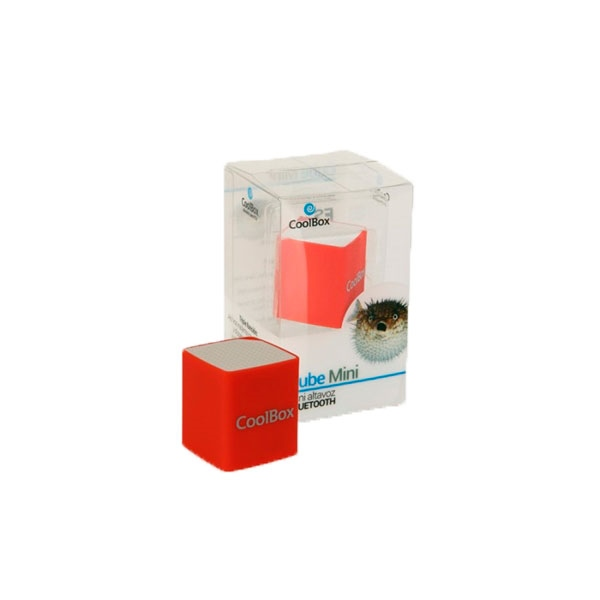 Coolbox Cube mini rojo Bluetooth – Altavoz
