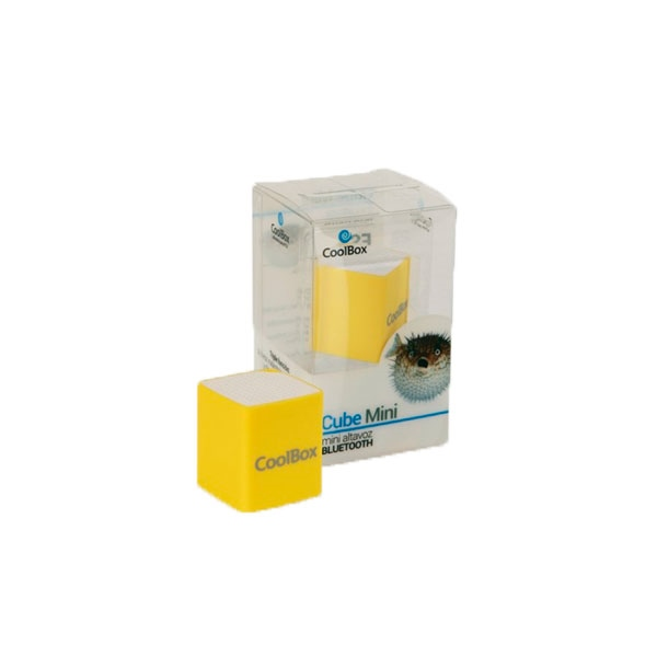 Coolbox Cube mini amarillo Bluetooth – Altavoz