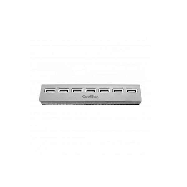 Coolbox ALU-2 7 puertos USB 2.0 - Hub