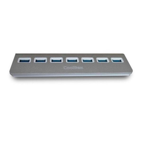 Coolbox hub alu 3 7 puertos USB3.0 - Hub