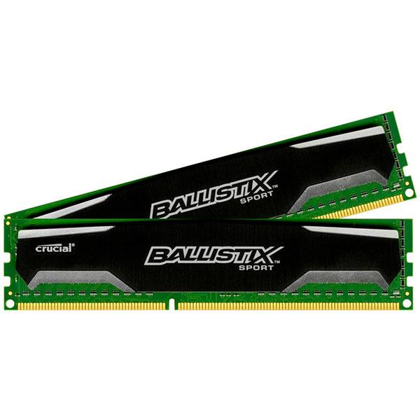 Crucial Ballistix Sport DDR3 16GB (8×2)1600MH- Memoria DDR3