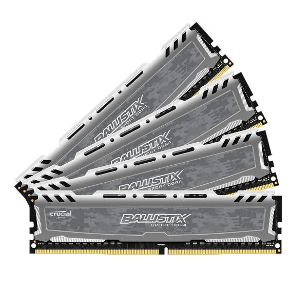 Crucial Ballistix Sport LT DDR4 2400MHz 64GB(4×16)CL16 – RAM