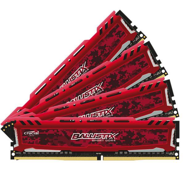 Crucial Ballistix Sport LT DDR4 2666MHz 64GB(4×16)CL16 – RAM