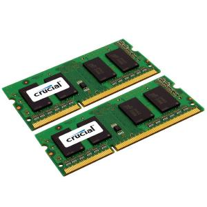 Crucial – DDR3 – 8 GB : 2 x 4 GB – SO DIMM 204-PIN.