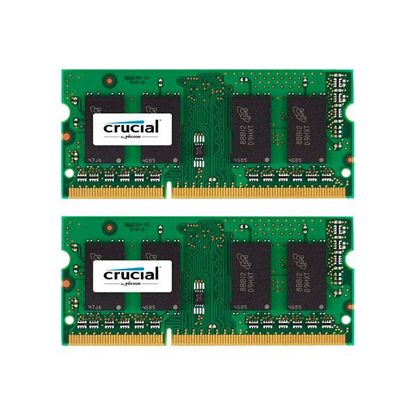 Crucial – DDR3 – 8 GB : 2 x 4 GB – SO DIMM 204-PIN