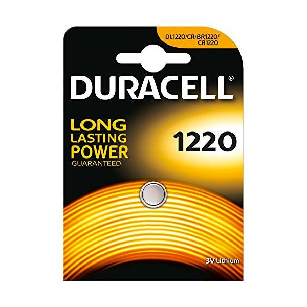 Duracell Pila Botón Litio CR1220 3V 1 unidad