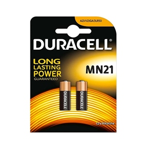 Duracell Pila Alcalina MN21 LR23A 12V 2 unidades