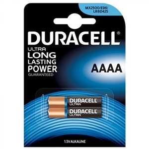 Duracell Pilas Alcalinas Ultra Power AAAA 1.5V 2 unidades