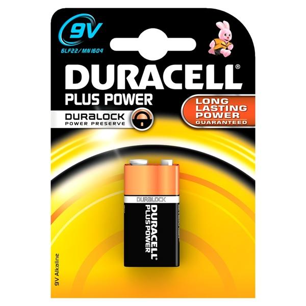 Duracell Pilas Alcalinas Plus Power LR61 9V 1 unidad