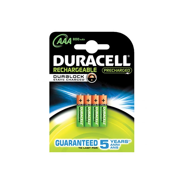 Duracell Pilas Recargables Recharge Ultra AAA 850mAh 4 uds.