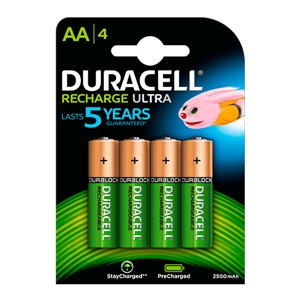 Duracell Pilas Recargables Recharge Ultra AA 2500mAh 4 uds.