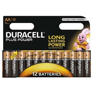 Duracell Pilas Alcalinas Plus Power AA 1.5V 12 unidades