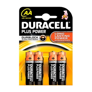 Duracell Pilas Alcalinas Simply AA LR6 4 unidades