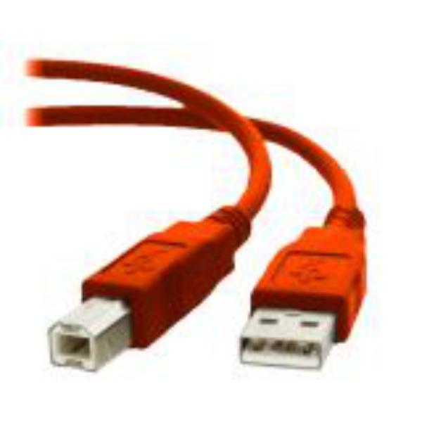 Equip USB USB 2.0 A-B 1,8M Color Rojo – Cable de datos