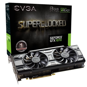 EVGA Nvidia GeForce GTX1070 8GB SC Gaming ACX Black – VGA