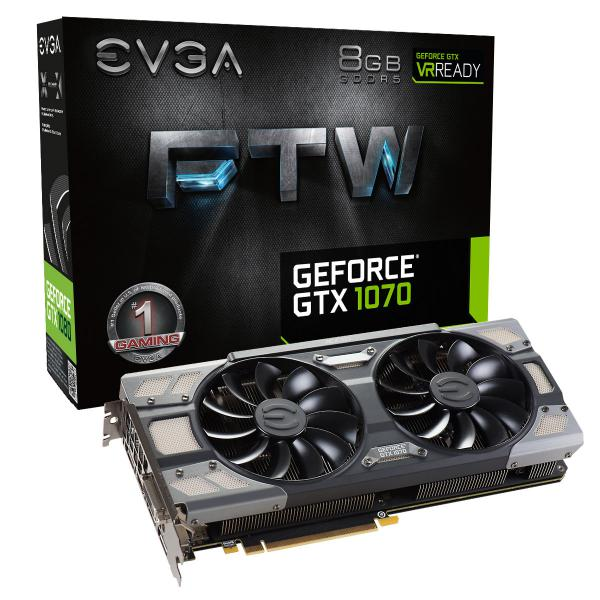 EVGA GeForce GTX 1070 FTW Gaming ACX 3.0, 8GB – Gráfica
