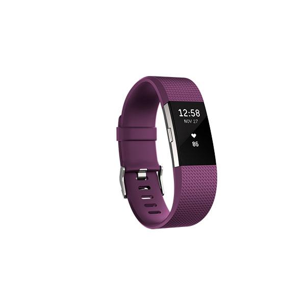 Fitbit Charge 2 Grande ciruela/plata – Pulsera de actividad