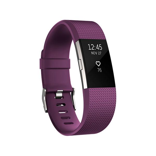 Fitbit Charge 2 Pequeña ciruela/plata – Pulsera actividad